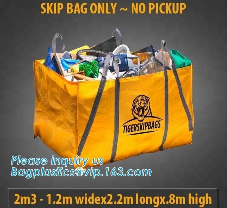 Eco friendly garbage dumpster Bag skip Bag for construction rubbish,High temperature resistance Jumbo bitumen bag 1000kg